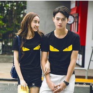 Frauen der Männer Eye Bedruckte T-Shirts der Männer Street Sommer-T-Shirts der Frauen beiläufige kurze Hülsen-T-Shirts Liebhaber Baumwollmischung mit Rundhalsausschnitt T-Shirts