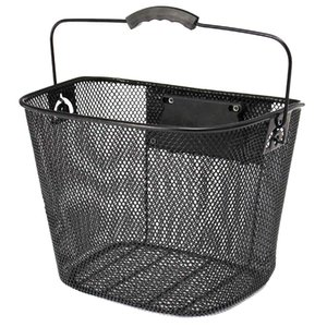 Metal Mesh Basket Für Mtb Mountainbike-Fahrrad-Front faltbare Basket Reit hinten Pannier Quick Release Einkaufs Griff