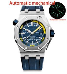 NY Fabrik LuxuxMens Qualitätsuhr automatische mechanische Uhrwerk 15710 Klassische Armbanduhr-Gummibügel-Sport leuchtende Uhren