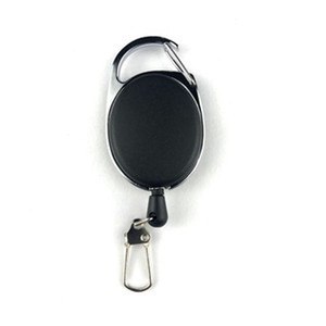 60 cm En Plein Air Pêche À La Mouche Outil Rétracteur Porte-Badge Porte-Badge Rétractable Reel Carabiners Clip Key Chain Accessoires De Pêche LJJZ530