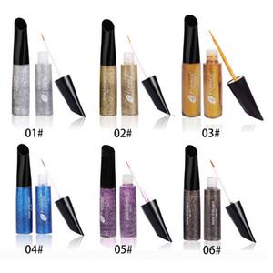 Shimmer Liquid Eyeshadow EyeLiner Макияж для глаз 5 цветов Glitter Eye Shadow Cosmetics 7ml WaterProof Прозрачный Гель для подводки глаз