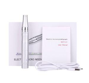 Бытовые 3 цвета автоматических беспроводные микроиглы дермы ручка Micro-игла Derma Pen терапия лица подтяжки кожи с 50шт 12 штырей иглы