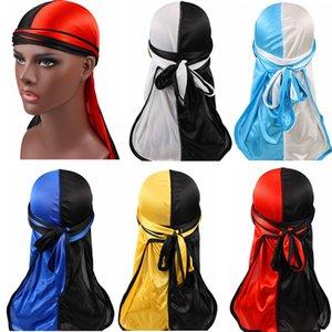 Erkekler Kadınlar Elastik Beanie Bandana durags Turban Steampunk Şapkalar Uzun Kuyruk Korsan Cap Bonnet Yaz için İpeksi Hip Hop Durag Şapka
