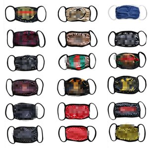 18 Colors Fedex wholesale brand face masks washable breathable luxury designer mask trendy print reusable windproof anti-dust cycling masks