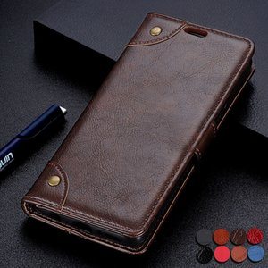Luxury Flip Case For LG G7 Fit case G7 Fit+ Shockproof PU Leather Card Wallet Stand Magnetic Cover lg g7 fit+ CASE with Rivets