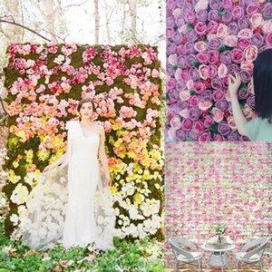 Fase creativa di cerimonia nuziale dei fiori artificiali della crittografia della parete dei trafori della rosa della parete del fiore all'ingrosso 60X40CM