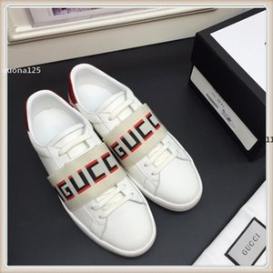 73 luxurydesigner gu32 Men's Shoes Leather Flats Black White 2 Color Sneakers Fashion Casual Lace Up Men's Shoes Size 38-45
