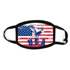 Reutilizable mascarilla de Trump 2020 Suministros elección americana tendencia de la moda a prueba de polvo respirable lavable mascarilla de las máscaras de la bandera EE.UU.