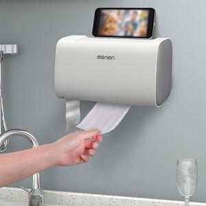 Mengni Bathroom Toilet Tissue Dispenser Wall-Mounted Double Door Tissue Box Bathroom Kitchen Storage Box Paper Towel Dispenser