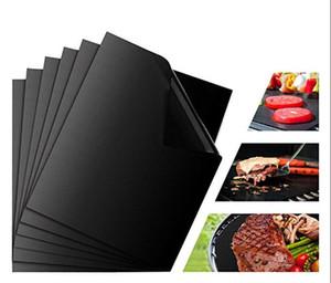 Non-stick BBQ Grill Mat 40 * 33cm Baking Mat Teflon Kochen grille Blatt Hitzebeständigkeit Leicht Küchenwerkzeuge Gereinigt