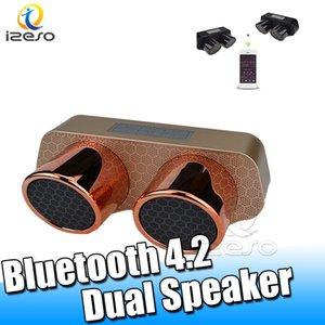 Bluetooth стерео спикер Музыка Surround Sound System Desktop Dual Динамика 5Вт для всех Android смартфона спикера с розничной упаковкой izeso