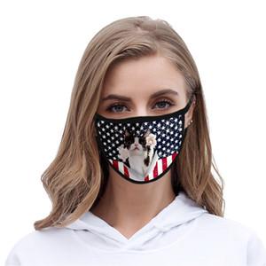 Máscara EE.UU. Día de la Independencia para las máscaras Señora cubrebocas color Rosa lavable poliéster EE.UU. Independencia autà sqtrimmer IaZrR