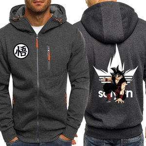 Mens Hoodies Anime Dragon Ball Z Casual Sweatshirt Sportswear Streetwear Hoodie Men 2019 Autumn Winter Zip Hooded Jacket Hoody Y200519