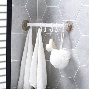 Duvar Köşe Güçlü Yapışkan Kanca Mutfak Duvar Dolabı Kanca Banyo Depolama Güçlü Sabit 6 Hooks Yukarı Raylar Havlu Raf Raf