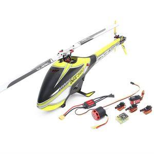 ALZRC Şeytan 380 FAST FBL 380mm Fiber Blades 6CH 3D Uçan RC Helikopter Süper Combo Versiyon - Sarı