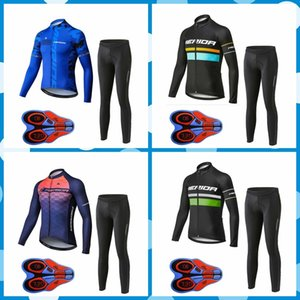 Merida team Cycling long Sleeves jersey pants sets men Breathable Quick-Dry Racing Bicycle ropa ciclismo 10919J
