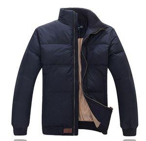 Fabrika doğrudan satış ceket erkeklere Yüksek kalite çift aşağı kalınlaştırmak ceket temizleme moda aşağı sezon special destekle! M + 2XL