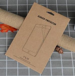 Kraft 소매 상자 포장 ipad air2 5 6 234에 대한 강화 유리 화면 보호기에 대한 종이 포장 상자 가방 미니 새로운 ipad 2017