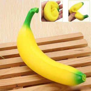 Squishy Banana 18см Желтый Squishy Супер Squeeze Slow Восходящая Kawaii Squishies Моделирование Фруктовый хлеб Kid Игрушка Декомпрессия игрушки