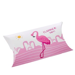 8pcs Kraft Paper Candy Gift Box Flamingo Gifts Bags Party Favors For Guests Wedding Christmas Baby Shower Birthday Decoration