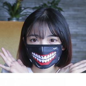 Vente en gros-1 pièce Tokyo Ghoul Kaneki Ken Horreur Halloween Cosplay Masque Hiver Coton Drôle chaud bouche Anti-Poussière Masque Avec Fermeture À Glissière D059