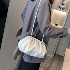 1pc Women Daily Cloud Shape Office Dating Shopping Fashion Dumplings Bag Crossbody Messenger Handbags Travel PU Leather Casual