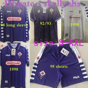 short 1998 1999 Retro Fiorentina longue à manches courtes football Jersey 9 Batistuta COSTA Vintage 98 99 92 93 Accueil T-shirt Camisas de Futebol