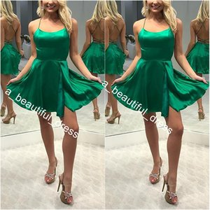 Sexy Homecoming Dresses A-Line Mini Length Sleeveless Backless Lace Up Ruched Homecoming Gowns Custom Made Cheap
