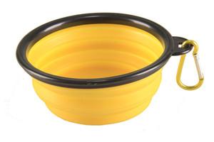10PCS Wholesales Pet Dog Cat Travel Bowl Pet Pop-up Food Water Feeder Foldable Portable Bowls Silicone Bowls