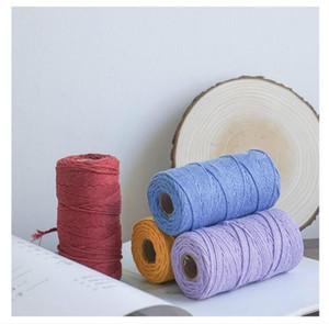 Makramee Schnur 3mm dick Farbe Baumwolseil Handgemachte Hauptdekoration Zubehör Tapestry Kunsthandwerk Chinesische Knoten-Schnur