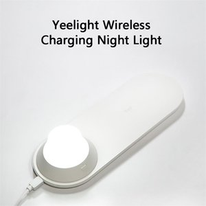 Xiaomi Youpin Yeelight Wireless Charger with LED Night Light Magnetic Attraction Fast Charging For iP Sams Huawei Phones