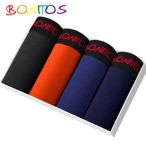 Bonitos Boxer Men 4 Teile / Los Boxershorts Men Unterwäsche onderbroek männer herer Ondergoed Herren-Unterwäsche-Boxer herer Boxershort Y200415