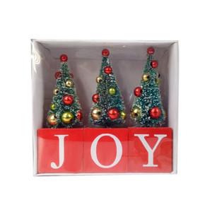 Mini Arbre de Noël Ornements de bureau Décore Sapin de Noël Pendentif Art de la table