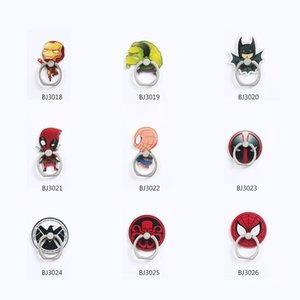 Avengers telefono cellulare dito anulare Grips supporti universali Supporti Staffe rotazione di 360 gradi Cavalletti Stents per l'iPhone Samsung Tablets