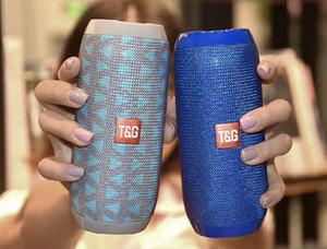 소매 상자 USB / TF / FM 라디오 기능과 블루투스 스피커 휴대용 스피커 TG117 Bettery 1200MAH 야외 방수 서브 우퍼