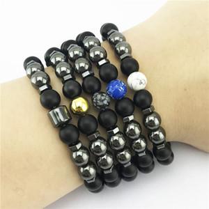 Magenetic Hämatit Perlen Armband imperialer Jaspis Türkis Armbänder Frauen Mensarmbänder arbeiten Schmucksachen werden und sandige Geschenk