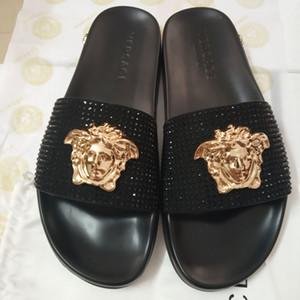 19SS Waterfront Katır Terlik Erkek kadın Lüks Sandalet Düz Moda Terlik Yaz Esnek Kauçuk dış taban Slayt Terlik Ayakkabı Yeni