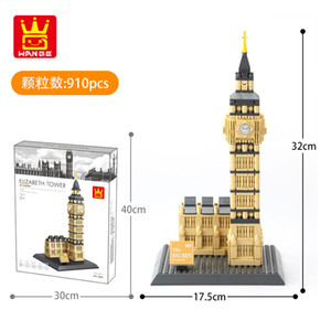 children World famous building model building blocks assembly toys kids intelligence Early education toy Home office ornament 02
