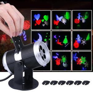 luzes de natal projetor laser natal ativado Movendo Dinâmico Padrão Snowflake Projector de Cinema de luz laser lâmpada Decoração