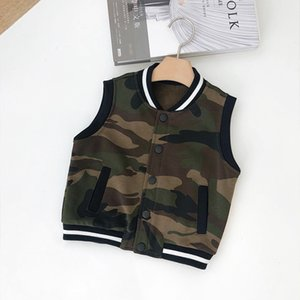 Childrenswear Spring Clothing Baby Camouflage Vest 1-3-Year-Old Children Boys' Waistcoat Sleeveless Baseball Uniform Coat