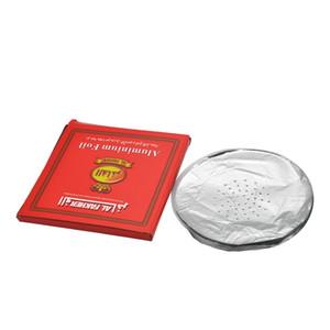 1 صندوق الشيشة الألومنيوم 0.02MM الشيشة الفحم احباط ورقة النرجيلة السلطانية القطر مستديرة معدنية مع ثقوب النرجيلة سمك شيشا / 120MM Krhgj