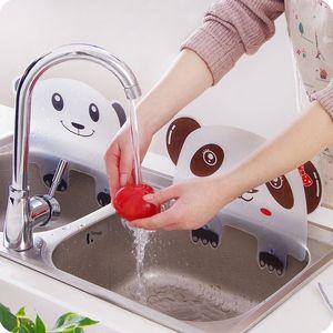 Sevimli Panda Şeklinde Lavabo Splash geçirmez Su Baffle alet Havuz Suyu Bariyer ile Sucker Su Bariyeri