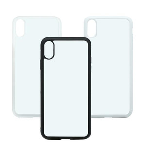 Custodia rigida per iPhone X XS XS MAX XR Custodia in plastica dura per stampa sublimatica in 2D con inserto in metallo