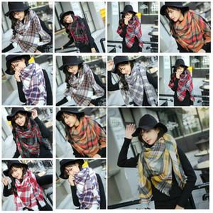 14 stil Kış yeni kadın Ekose Eşarplar kare eşarp üçgen Şal süper büyük atkısı Parti FavorT2C5162 kalınlaşmış Kontrol