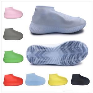 Anti-Skid Ayakkabı Kapak Silikon Su geçirmez Yağmur Ayakkabı Çizme S / M / L Geri dönüştürülebilir galoş Ayakkabı Kapak İçin Plaj Raining Kullanımı