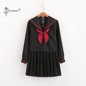 Japon Okul Kıyafetleri Anime COS Sailor Suit Kız Short için JK Donanma Stil Öğrenci Giyim / uzun Kol Japonca Korece Sailor