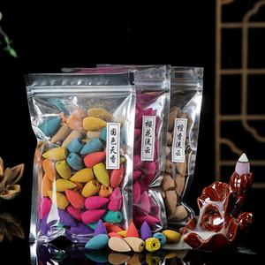 50pcs / lot Çiçek Koni Tütsü Sandal Ağacı Füme Lezzet Lily Lavanta Gül Yasemin Osmanthus Limon Gül Geriakış Tütsü Zen Barışçıl