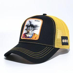 Dragon Ball Z Goku Jump Бейсбольная кепка Trucker Snapback Hat Регулируемая Goku DRACNBALL Z Kakarotto Majin Buu Серия косплей Вышитые кепки