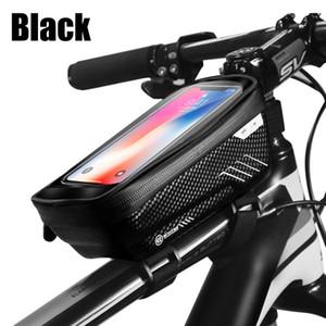 Sac vélo Sac vélo vélo étanche à l'avant de 6,2 pouces téléphone portable vélo Top Tube Sacs Guidons Cyclisme de montagne Accessoires K400G