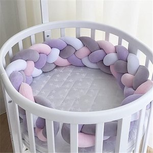 1M Baby Bumper Bed Braid Knot Pillow Cushion Bumper for Infant Kids Crib Protector Cot Room Decor Anti-collision